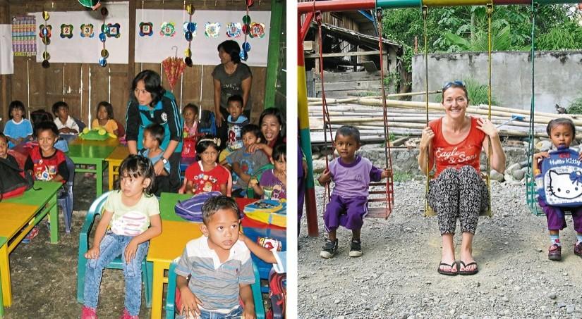Besuch eines Kindergartens auf Sulawesi