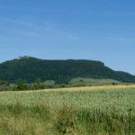 Blick von der Owener Hütte auf die Burg Teck