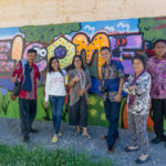 Besuch einer Unterkunft für Flüchtlinge